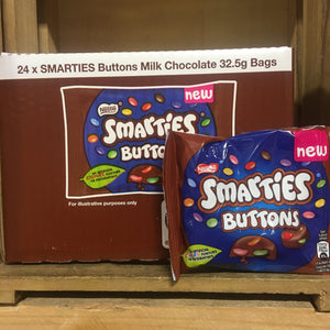 24x Smarties Milk Chocolate Buttons Bags (24x32.5g)