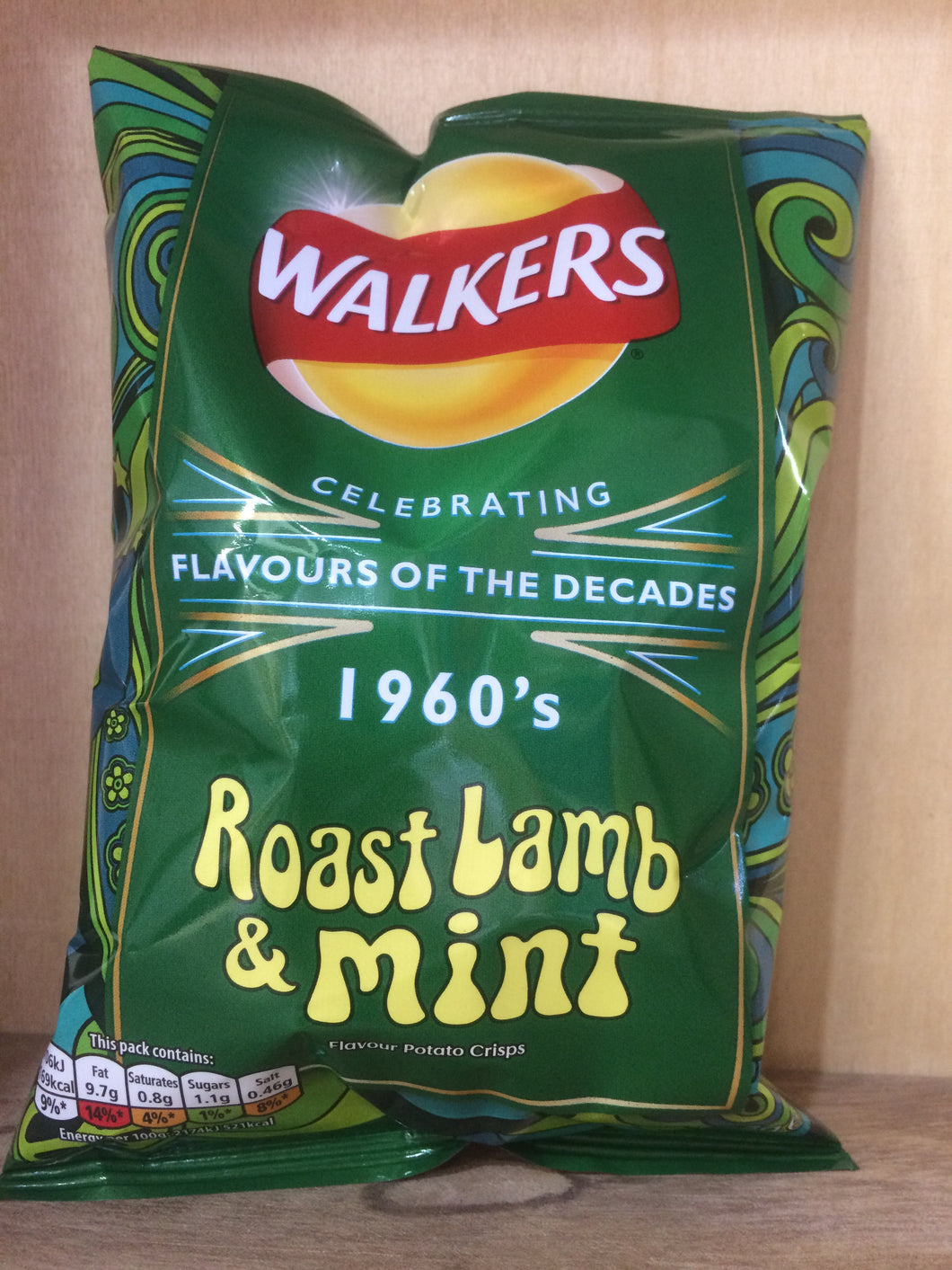 Walkers Roast Lamb & Mint Crisps 32.5g