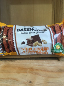 East Coast Bakehouse Stem Ginger & Chocolate Chunk Crunchy Cookies 160g