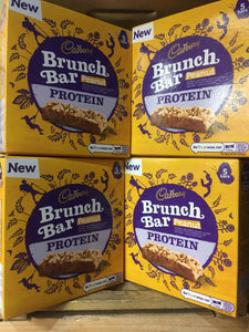 25x Cadbury Peanut Protein Brunch Bars (5 Packs of 5x32g Bars)