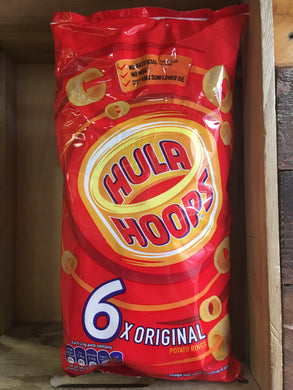 Hula Hoops Original Potato Ring Crisps 6 Pack 6x24g