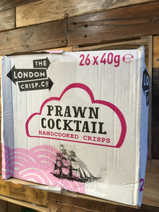 26x London Crisp Co Prawn Cocktail Crisps (26x40g)