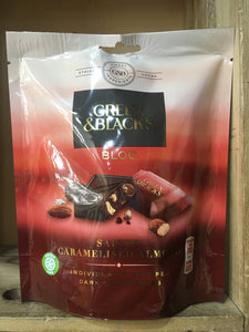Green & Black's Bloc Salted Caramelised Almond Dark Chocolate 120g