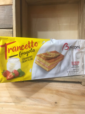 Balconi Trancetto Fragola Strawberry Cream Filling 10 Mini Cakes 280g