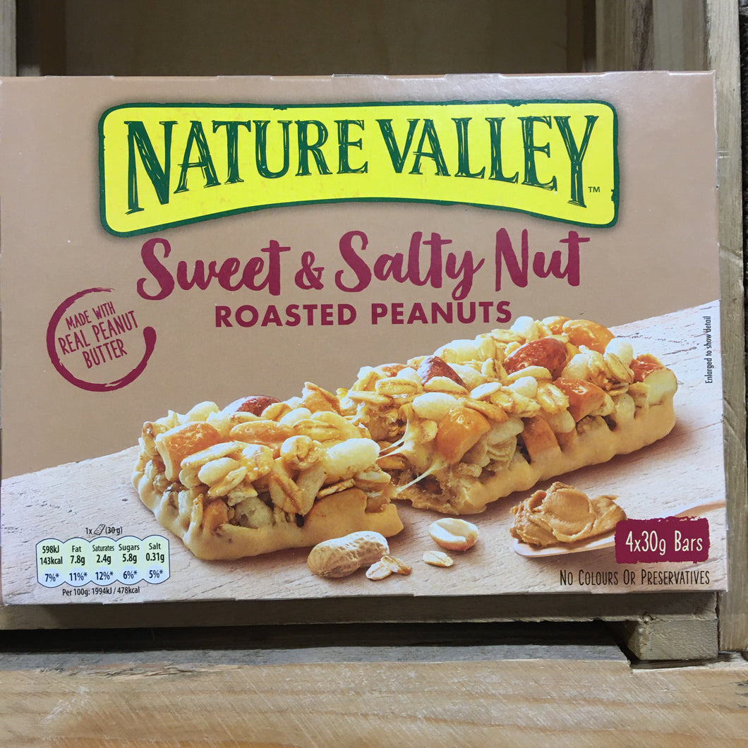 12x Nature Valley Sweet & Salty Nut Peanut Bars (3 Packs of 4x30g)