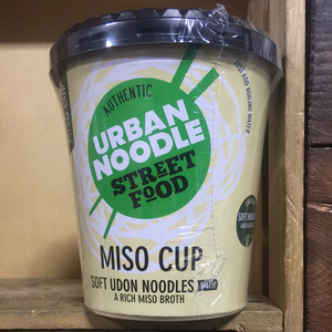 Urban Noodle Miso Cup Soft Udon Noodles with Miso Broth 132g