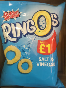 Golden Wonder Salt & Vinegar Ringos Sharing Bag 70g