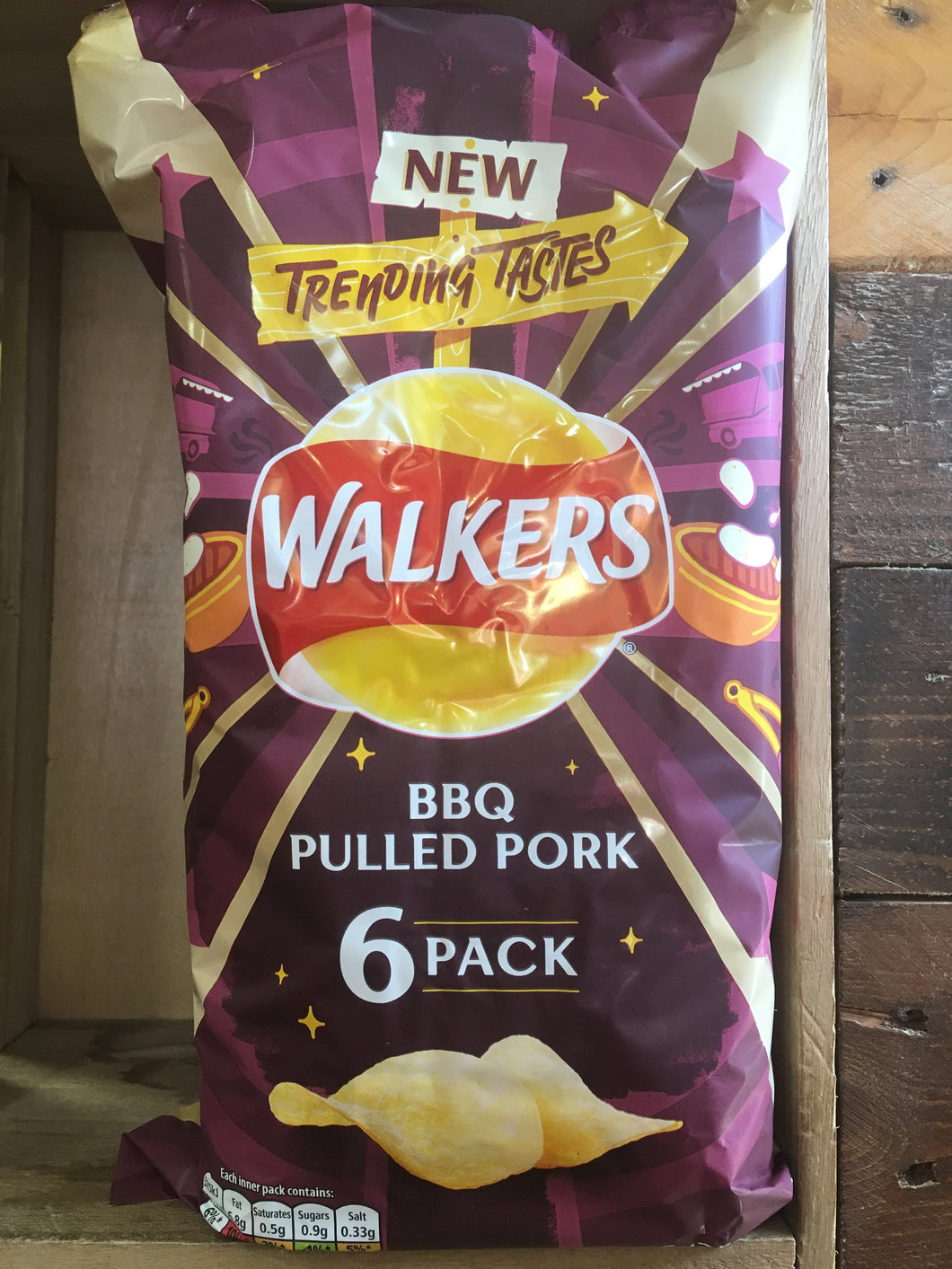 Walkers BBQ Pulled Pork 6 Pack (6x25g)