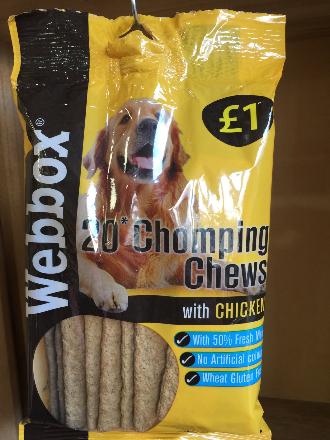 Webbox 20 Chicken Chomping Chews 200g