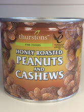 Thurstons Honey Roasted Peanuts & Cashews in Tin 110g