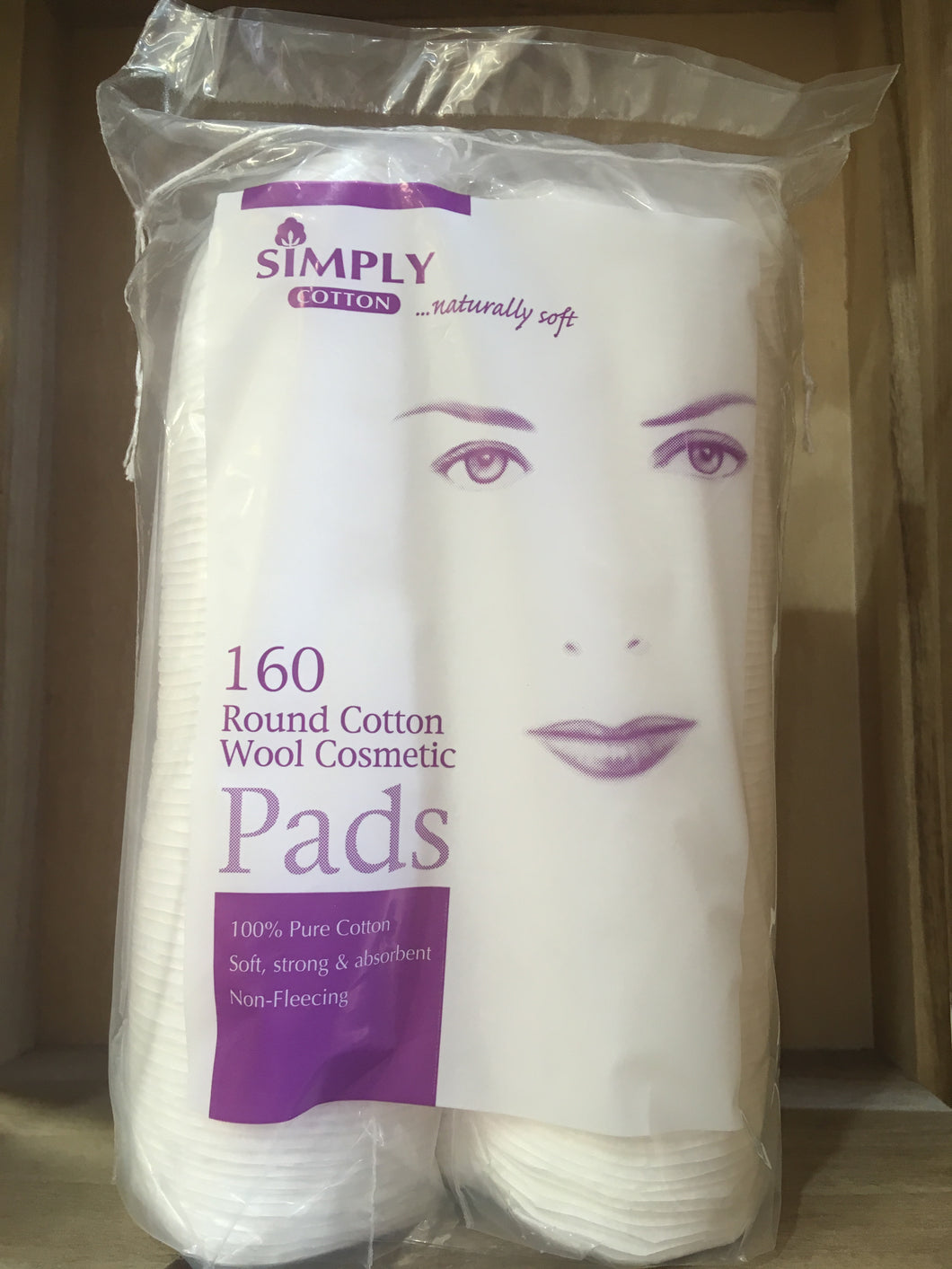 Simply Cotton 160 Round Cotton Wool Cosmetic Pads