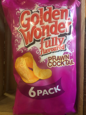 Golden Wonder Prawn Cocktail Crisps 6 Pack