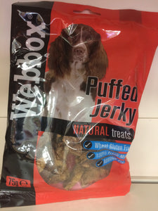 Webbox Puffed Jerky Natural Treats 75g