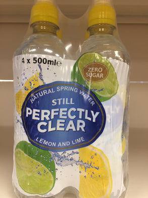 Perfectly Clear Still Water Lemon & Lime 4x500ml