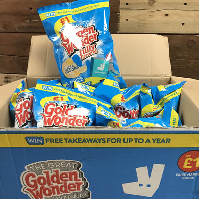 15x Golden Wonder Salt & Vinegar Crisps (15x75g)
