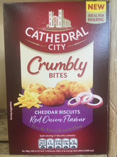 3x Cathedral City Crumbly Bites Cheddar & Red Onion (3x100g)
