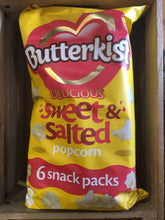Butterkist Delicious Sweet & Salted Popcorn 6 Pack (6x15g)