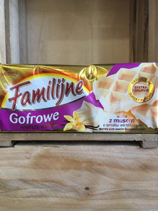 Familijne Waffles Wafers with Vanilla Flavoured Cream 130g