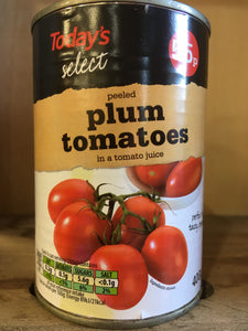 Today's Select Peeled Plum Tomatoes 400g