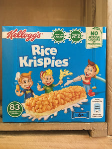 18x Kellogg's Rice Krispies Bars 3 Packs of 6 (3x6x20g)