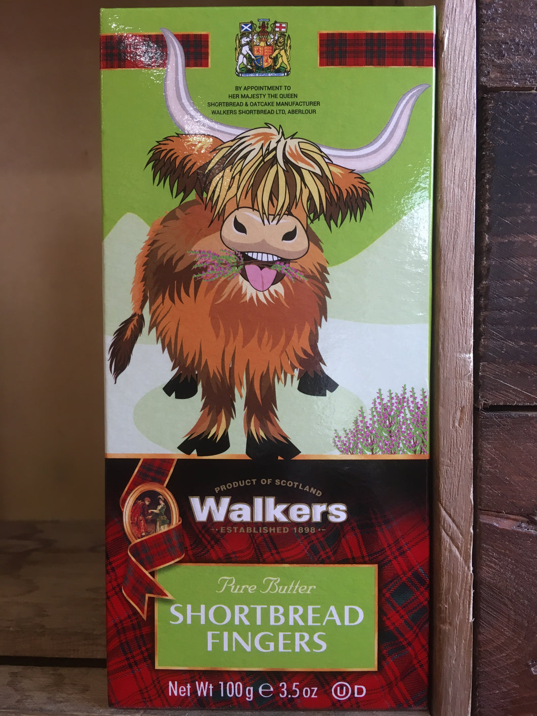 Walkers 6 Thin Shortbread Fingers Highland Cow 100g
