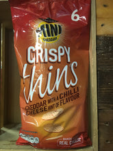 24x Mini Cheddars Crispy Thins Cheddar with Hint of Chilli Cheese (4x6x23g)