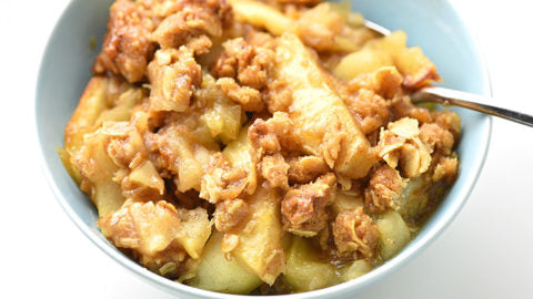 Vegan Apple Crisp with Sacred Cow Granola