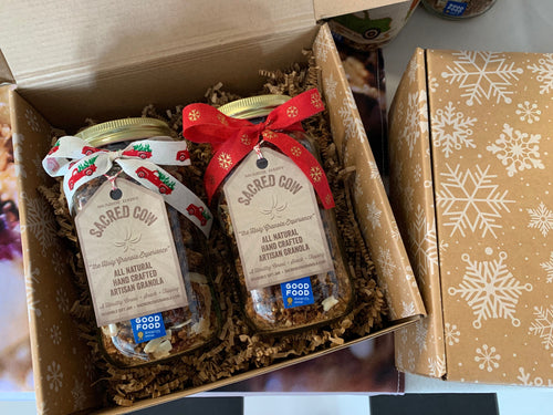 2 Pack Mason Jars (11oz each) Holiday Gift Box
