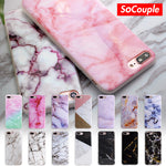 Granite Scrub Marble Stone Painted Silicone Phone Case Cover