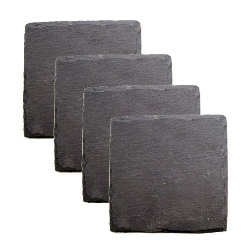 Country Home: Square Slate Coasters - Big Bar Shots