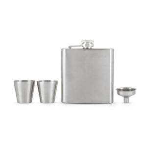 Fiasco Flask And Shot Glass Gift Set by True - Big Bar Shots