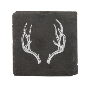 Rustic Holiday Antler Slate Coasters by Twine - Big Bar Shots