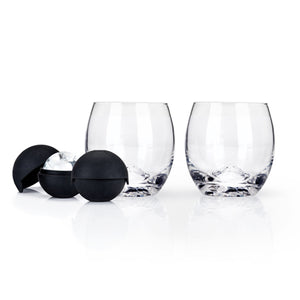 Glacier Rocks® Ice Ball Mold and Tumbler Set by Viski - Big Bar Shots