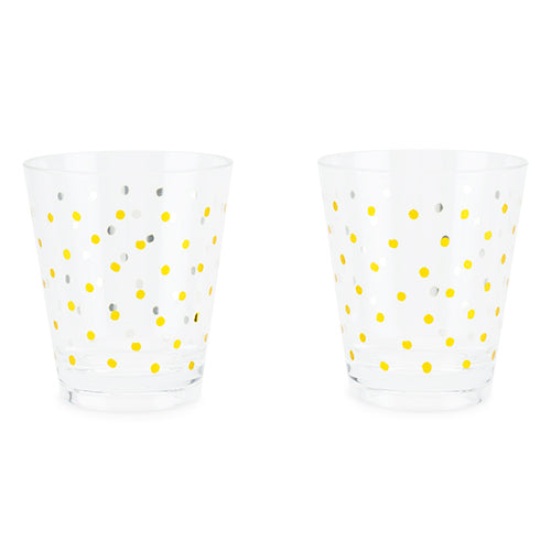 Gold Dots Acrylic Cups (set of 2) - Big Bar Shots