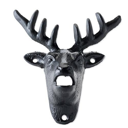 Cast Iron Wall Mounted Deer Bottle Opener by Foster and Rye - Big Bar Shots