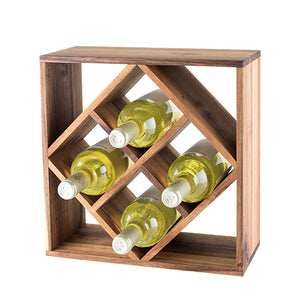 Rustic Farmhouse: Acacia Wood Lattice Wine Rack by Twine - Big Bar Shots