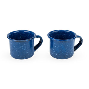 Blue Enamel Shot Glasses (set of 2) - Big Bar Shots