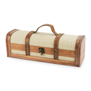 Chateau: 1-Bottle Vintage Trunk Wine Box by Twine - Big Bar Shots