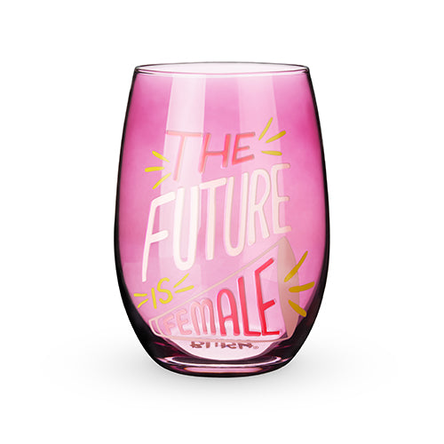 The Future is Female Stemless Wine Glass by Blush®