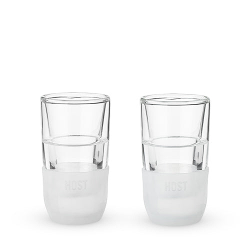 Glass FREEZE™ Shot Glass (set of two) by HOST® - Big Bar Shots