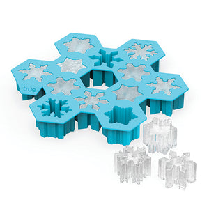 Snowflake Silicone Ice Cube Tray by TrueZoo - Big Bar Shots