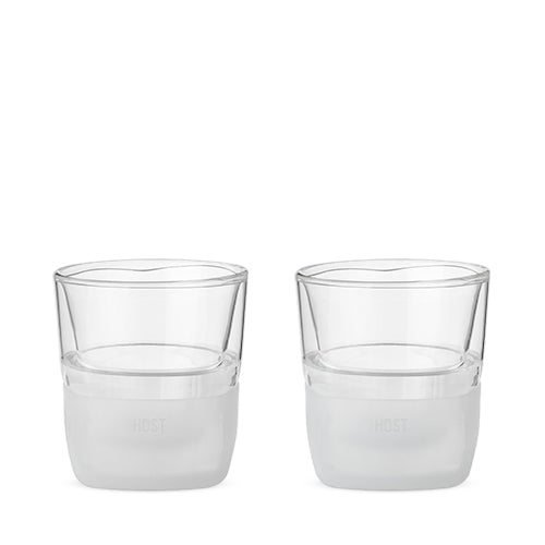 Glass FREEZE™ Whiskey Glass (set of two) by HOST® - Big Bar Shots
