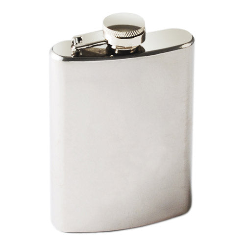TrueFlask™: 4 oz Stainless Steel Flask - Big Bar Shots