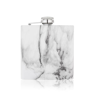 Marble 6oz Stainless Steel Flask - Big Bar Shots