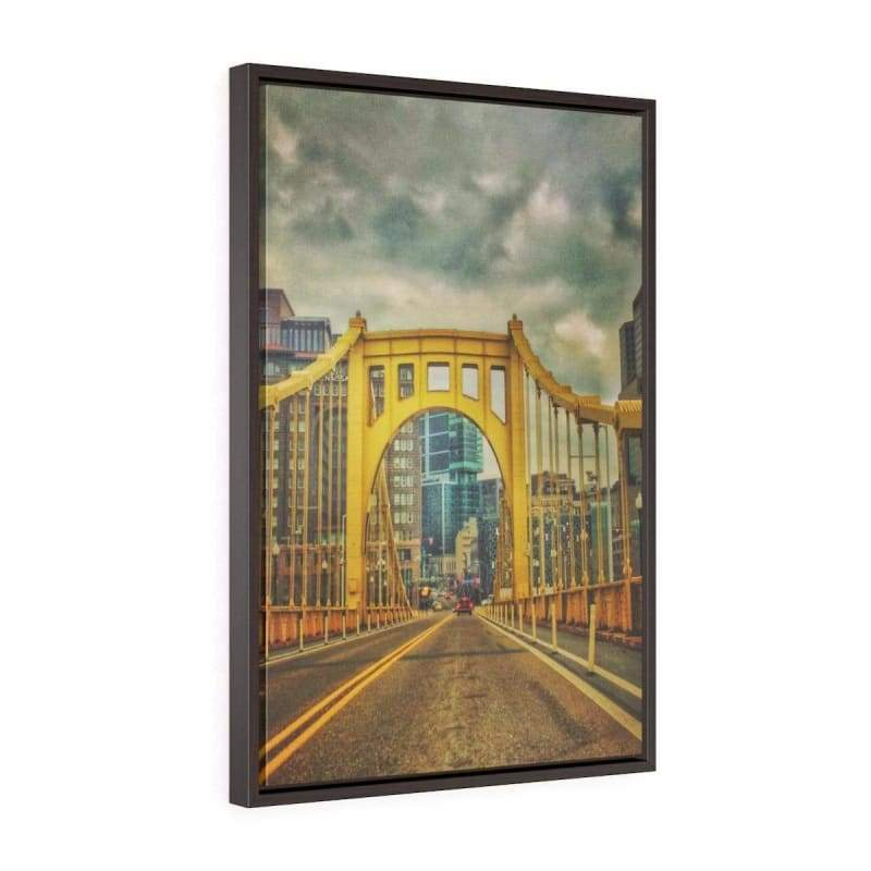 Yellow Bridge Roads, Pittsburg - Canvas Print - Illusion Photograph -Canvas