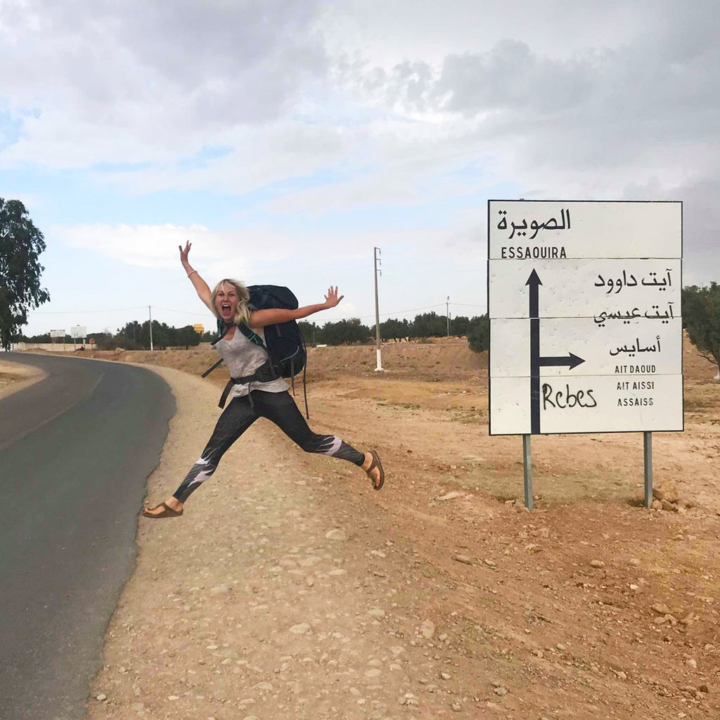 1000 welcomes toma paulauskaite hitchhiking Morocco Africa due fashion