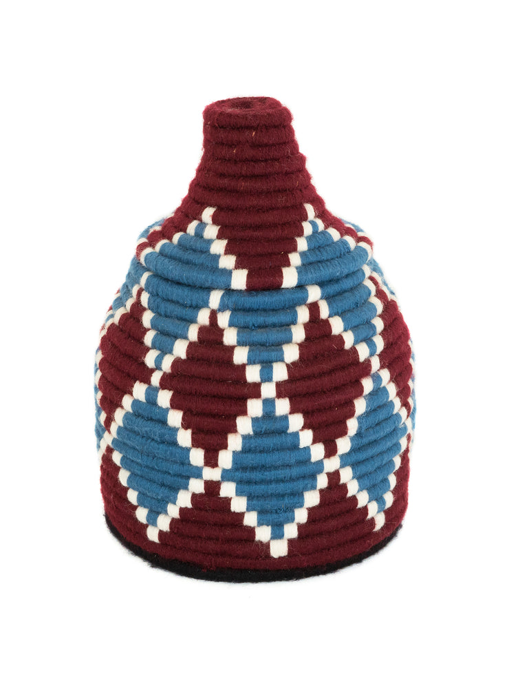 Colourful Wool Moroccan Basket from Sahara