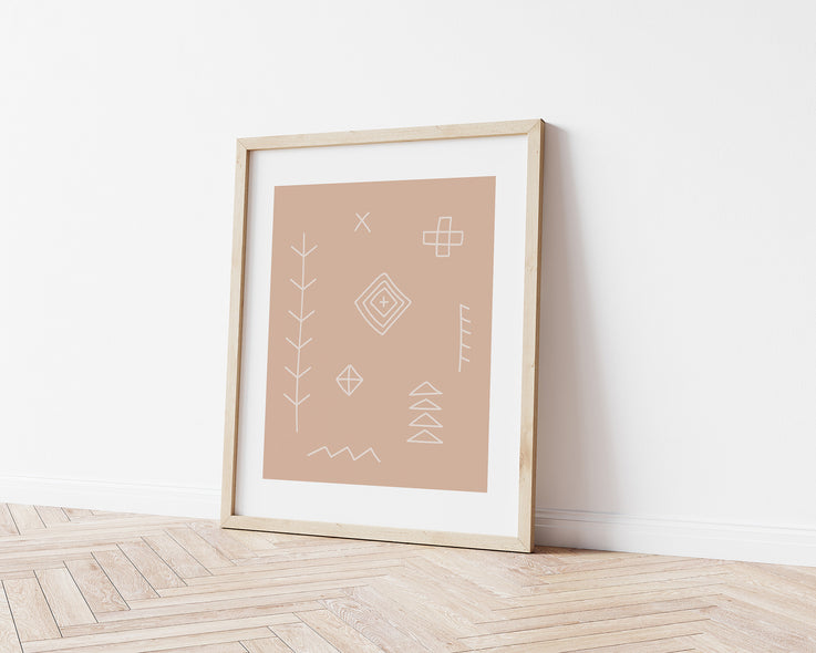 Digital Print / Berber Symbol Print / Boho Printable Wall Art