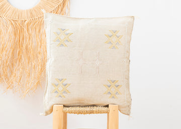 Moroccan Cactus Silk Pillow 206