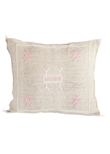 gray cactus silk pillow